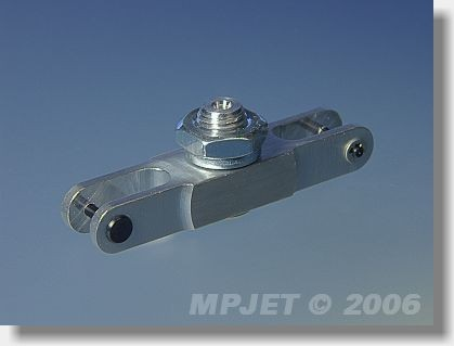 Aluminium middlepart hub (pitch 45; 12x8; slot 6; pin 2;...