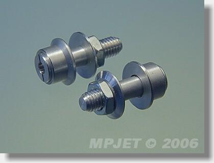 Collet prop adapter 12 mm, 2 mm shaft, M5/22-standard