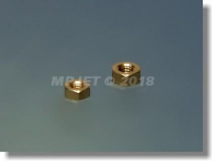 Brass nut M4 left