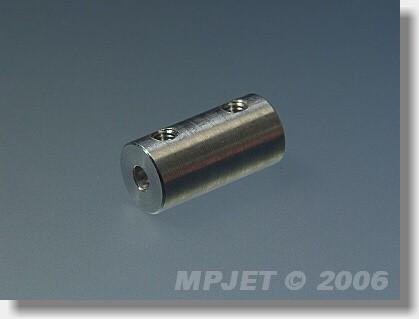 Direct shaft coupler 2,3/2,3, 9 mm OD