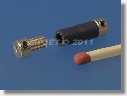 FLEXI shaft coupler 5, 1,5/1,5