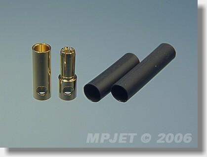 Connectors MG 6 mm dia - set