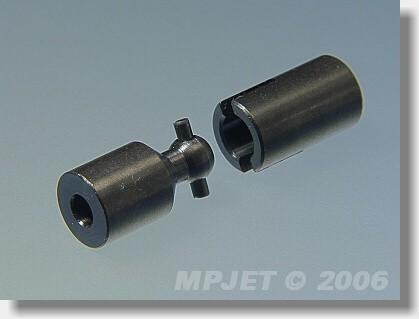 Steel U-joint 3/3, OD 10 mm