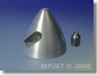 Metal spinner 40 mm dia, nut M6/M2,5
