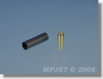 Connectors MP JET gold 1,8 mm dia - socket