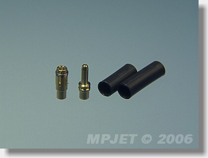 Connectors MP JET gold 1,8 mm dia - set